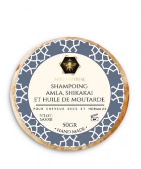 Shampoing solide amla, shikakaï et huile de moutarde 50g